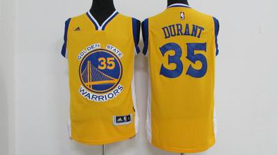 NBA golden state warriors #35 kevin durant yellow jersey