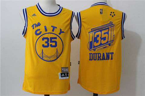 NBA golden state warriors #35 kevin durant yellow the city jersey