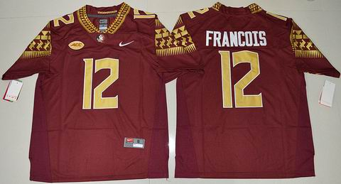 NCAA Florida State Seminoles #12 Deondre Francois College Football Jersey Red