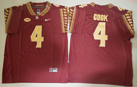 NCAA Florida State Seminoles #4 Dalvin Cook College Football Jersey Red