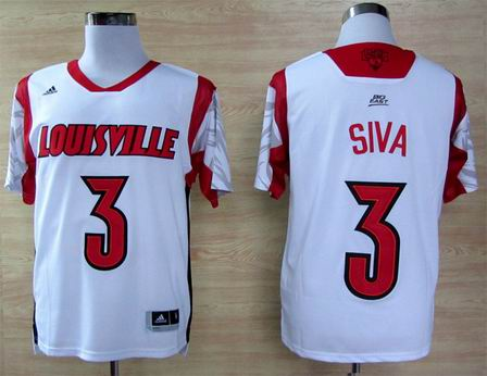 NCAA Louisville Cardinals 2013 March Madness Peyton Siva 3 Jersey - White
