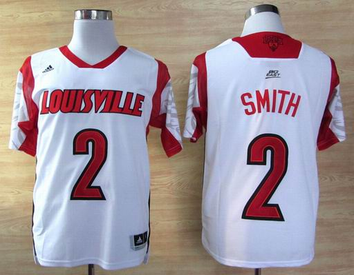 NCAA Louisville Cardinals 2013 March Madness Russ Smith 2 Jersey - White