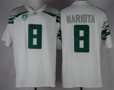 NCAA Oregon Duck Marcus Mariota 8 Mach Speed Limited College Football Jerseys - White