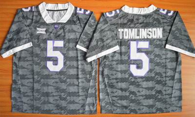 NCAA TCU Horned Frogs #5 LaDainian Tomlinson Football Jersey Grey