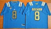 NCAA UCLA Bruins #8 Troy Aikman College Football Jersey Blue