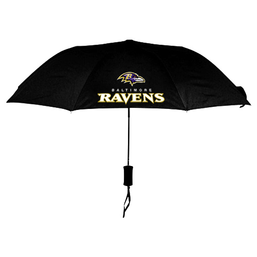 NFL Baltimore Ravens Folding Umbrella Black