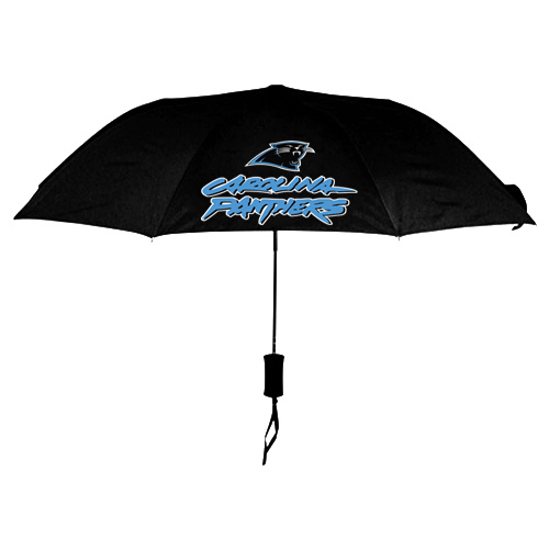NFL Carolina Panthers Folding Umbrella Black