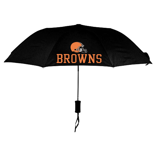 NFL Cleveland Browns Folding Umbrella Black