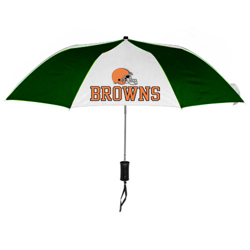 NFL Cleveland Browns Folding Umbrella Green&White
