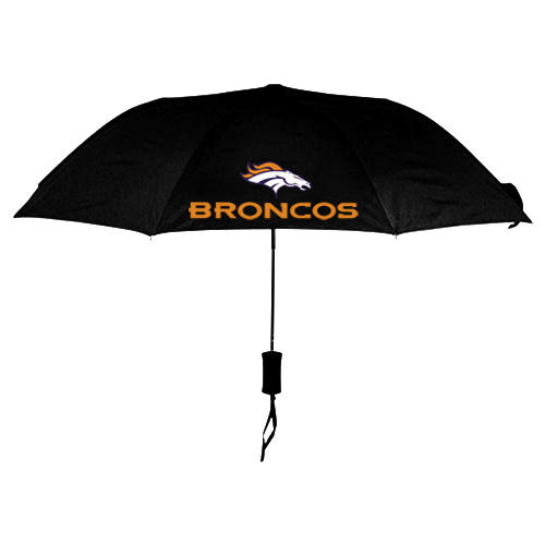 NFL Danver Broncos Folding Umbrella Black