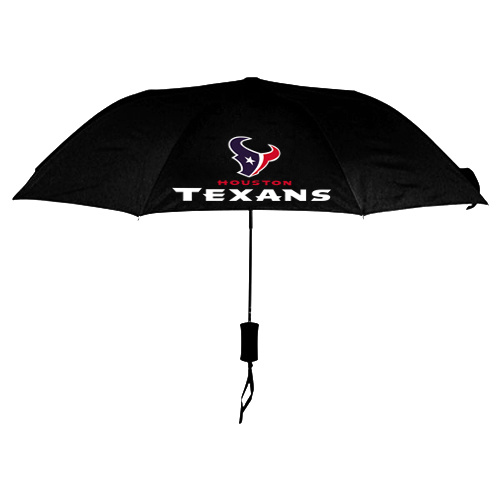 NFL Houston Texans Folding Umbrella Black