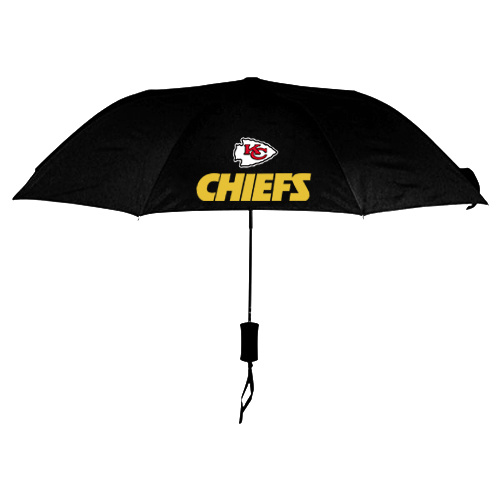 NFL Kansas City Chiefs Folding Umbrella Black