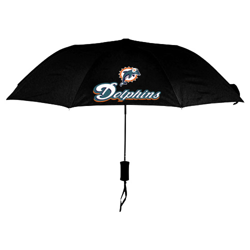 NFL Miami Dolphins Folding Umbrella Black