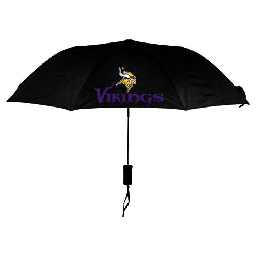 NFL Minnesota Vikings Folding Umbrella Black
