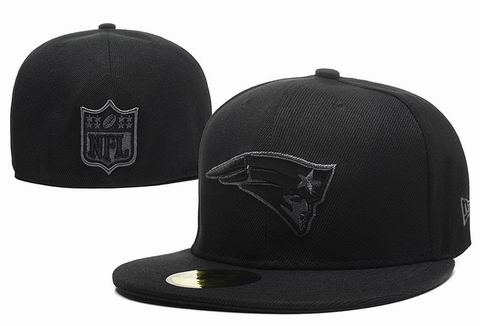 NFL New England Patriots fitted cap all black