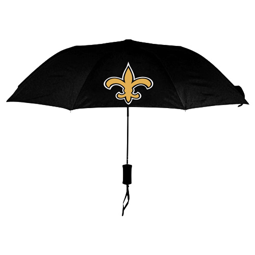 NFL New Orleans Sains Folding Umbrella Black