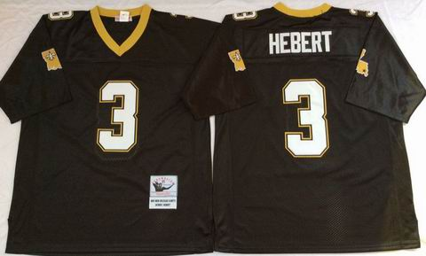 NFL New Orleans Saints #3 Hebert black throwback jersey
