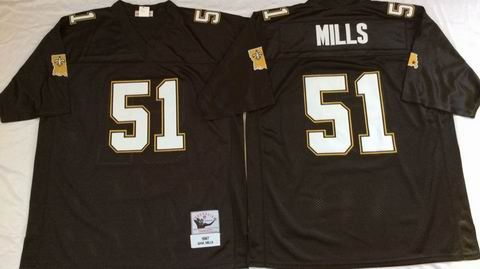 NFL New Orleans Saints #51 Mills black throwback jersey