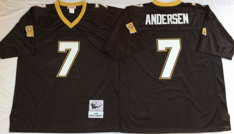 NFL New Orleans Saints #7 Andersen black throwback jersey