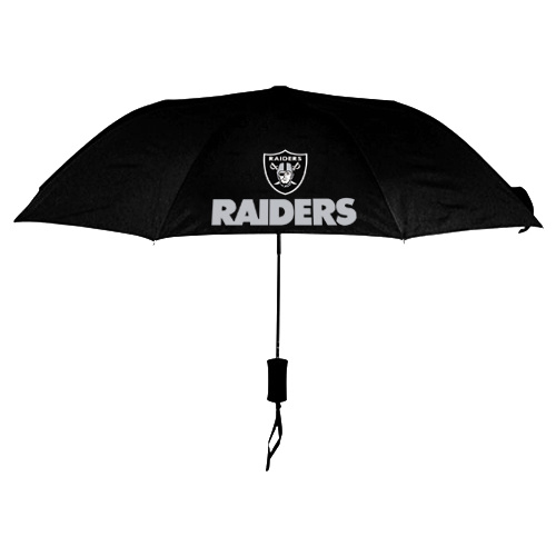 NFL Oakland Raiders Folding Umbrella Black