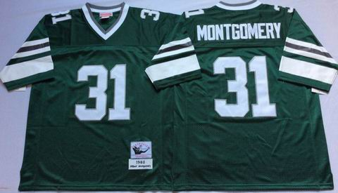 NFL Philadelphia Eagles #31 Montgomery green throwback jersey