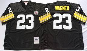 NFL Pittsburgh Steelers #23 Wagner black throwback jersey