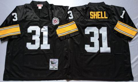 NFL Pittsburgh Steelers #31 Shell black throwback jersey