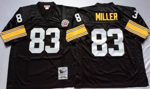 NFL Pittsburgh Steelers #83 Miller throwback black jersey