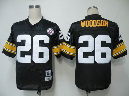 NFL Pittsburgh Steelers 26 Woodson throwback black jersey