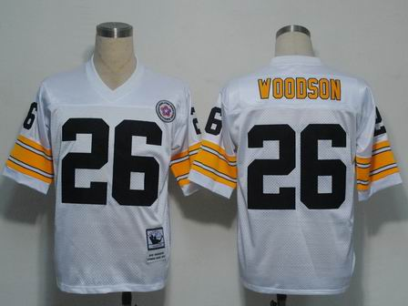 NFL Pittsburgh Steelers 26 Woodson throwback white jersey