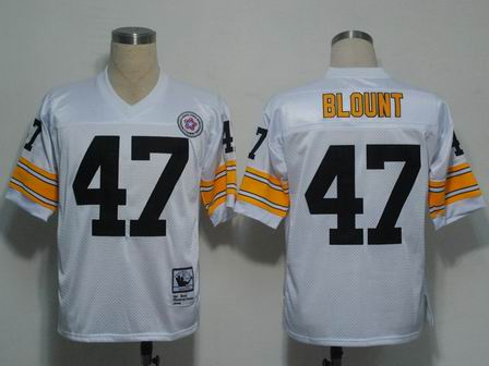NFL Pittsburgh Steelers 47 Blount throwback white jersey