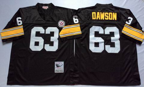 NFL Pittsburgh Steelers 63 Dawson throwback black jersey