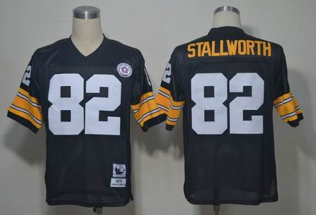 NFL Pittsburgh Steelers 82 Stallworth throwback black jersey