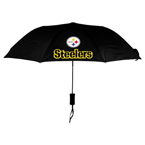 NFL Pittsburgh Steelers Folding Umbrella Black