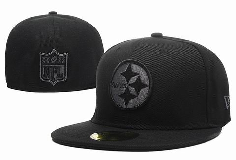 NFL Pittsburgh Steelers fitted cap all black