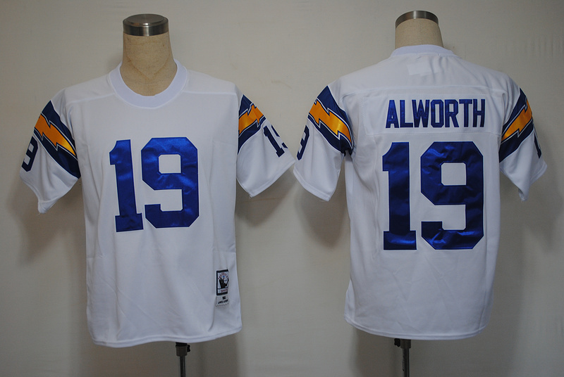 NFL San Diego Chargers 19 Alworth throwback white jersey
