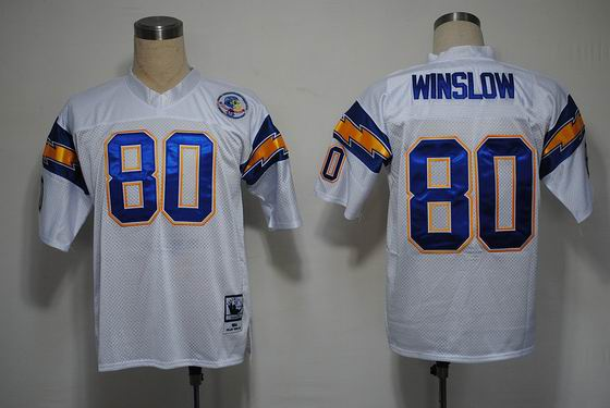 NFL San Diego Chargers 80 Winslow throwback white jersey