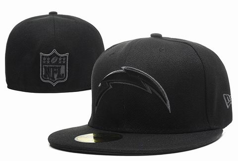NFL San Diego Chargers fitted cap all black