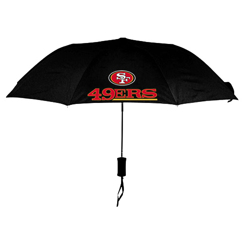 NFL San Francisco 49ers Folding Umbrella Black