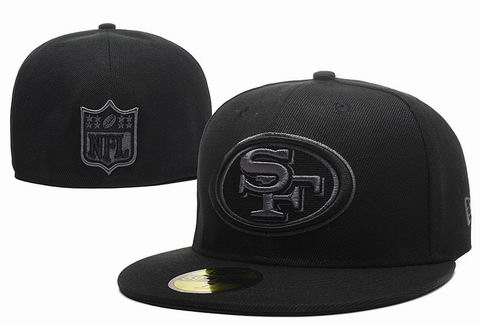 NFL San Francisco 49ers fitted cap all black