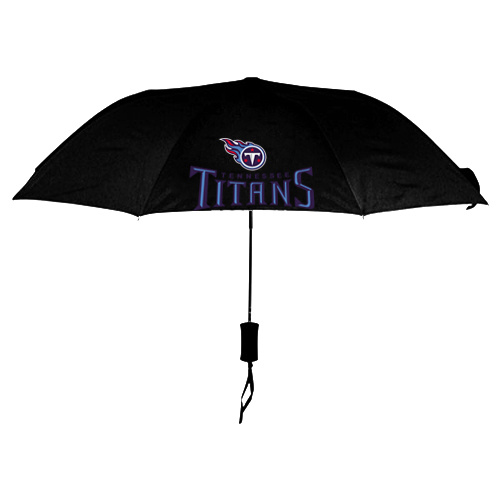 NFL Tennessee Titans Folding Umbrella Black