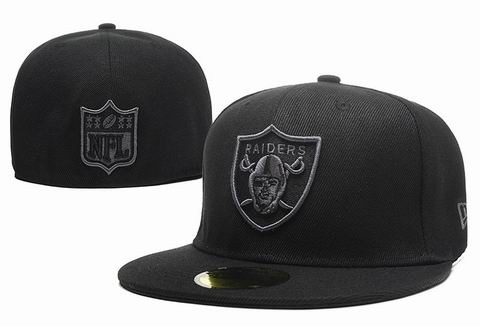 NFL oakland raiders fitted cap all black