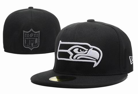 NFL seattle seahawks fitted cap black