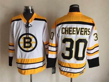 NHL Boston Bruins #30 Cheevers white jersey
