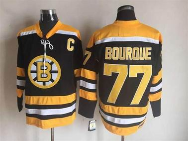 NHL Boston Bruins #77 Bourque black jersey