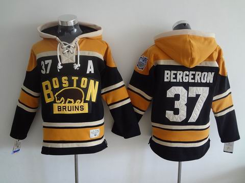 NHL Boston Bruins 37 Bergeron Black Hoodies Jersey