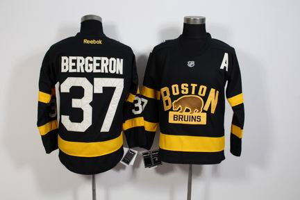 NHL Boston Bruins 37 Bergeron black jersey