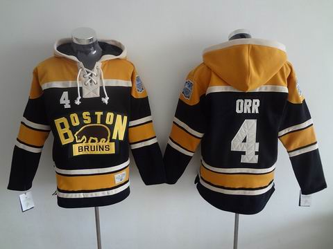 NHL Boston Bruins 4 Orr Black Hoodies Jersey