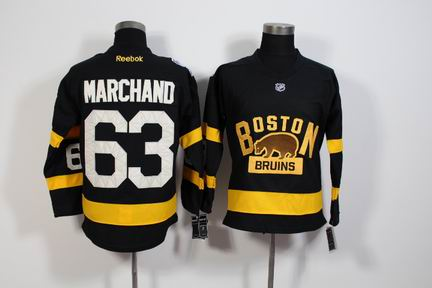 NHL Boston Bruins 63 Marchand black jersey