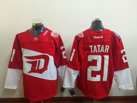 NHL Detroit Red Wings #21 Tatar red jersey